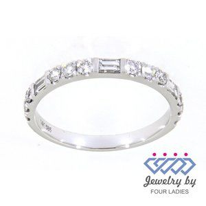Baguette Diamond Elegant Wedding Band White Gold